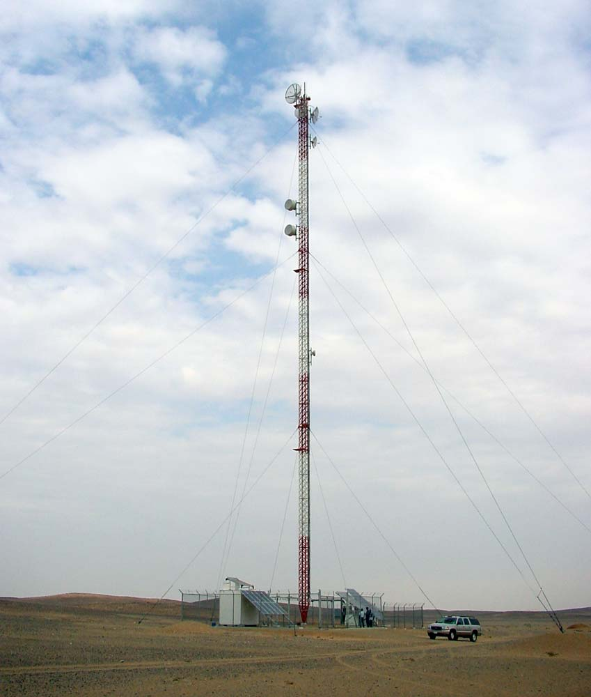 BROADCASTING Passive Shelter with tower