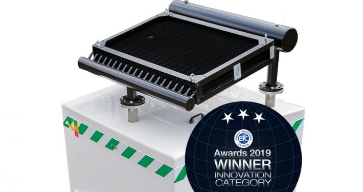 EIC Award 2019 innovation winner with Hughes Zero Power Cooler