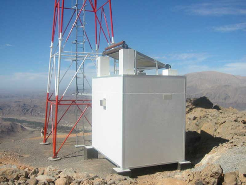 TELECOMUNICATION GSM SITE with Passive shelter